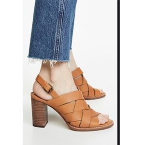 New in box Madewell Cary 👡 sandal amber brown